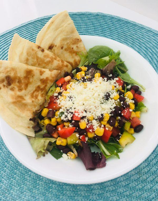Street Corn Salad & Quesadillas