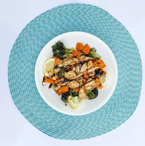 Sweet Potato & Broccoli Bake with Chicken