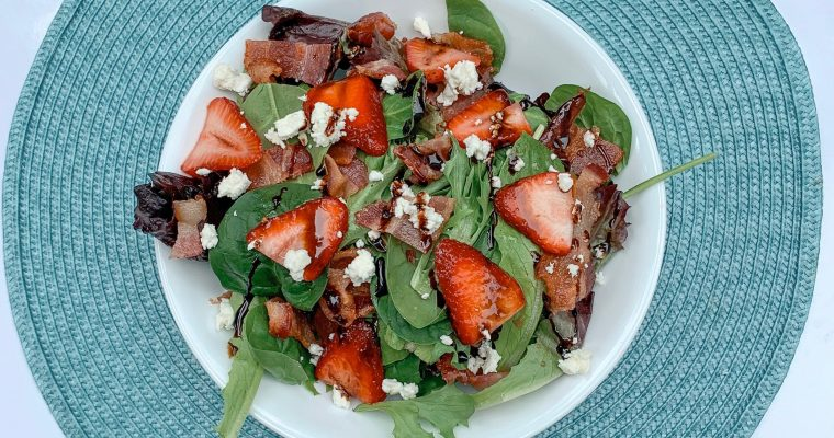 Strawberry Salad with Bacon